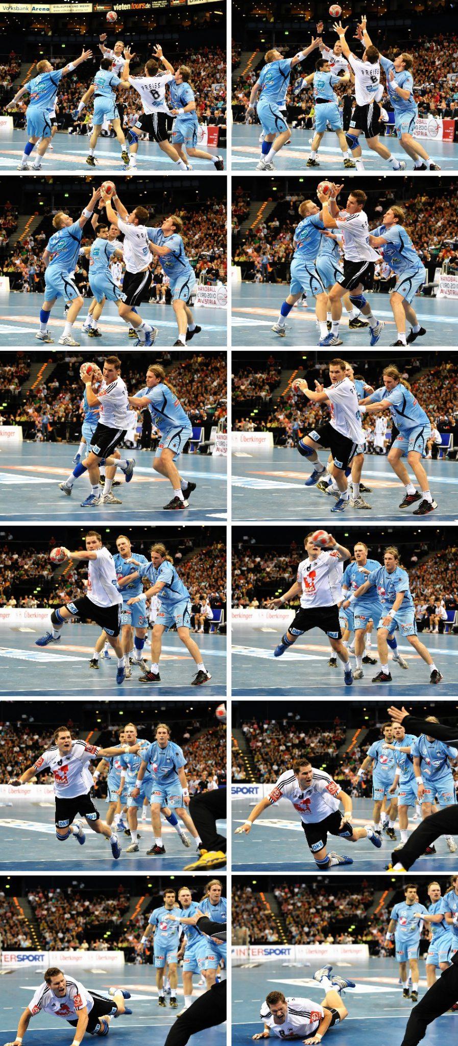 Beispiel für neun Bilder pro Sekunde