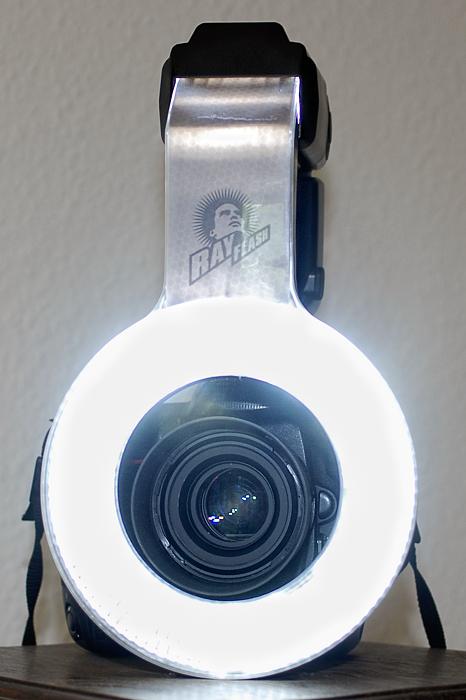 Testbild für die Lichtausbeute des Rayflash Ringblitzes