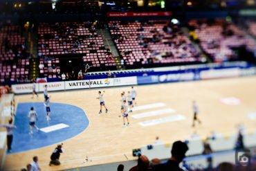 gefakter Miniatureffekt beim Handball
