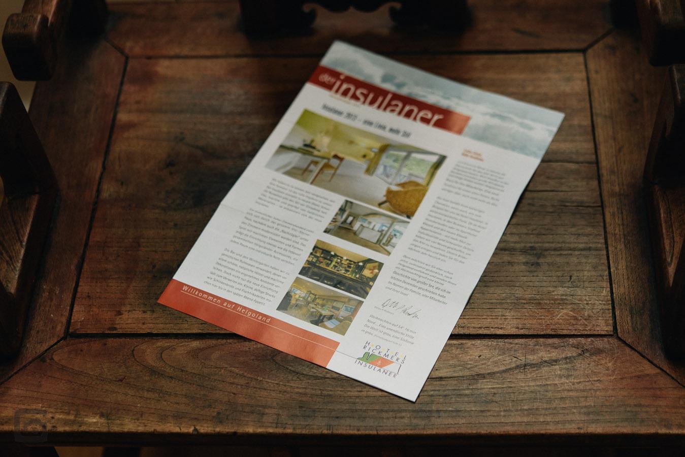 Veröffentlichung der Insulaner - Information von Hotel Rickmers Insulaner