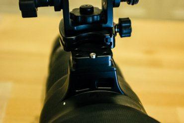 Einbeinstativ mit Acratech Long Lens Head an Wimberley Ersatzfuss