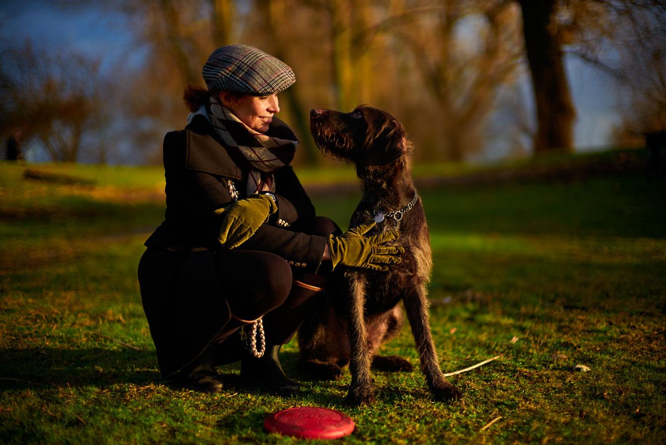 Schnappschuss von Wibke mit Hund Hendrix