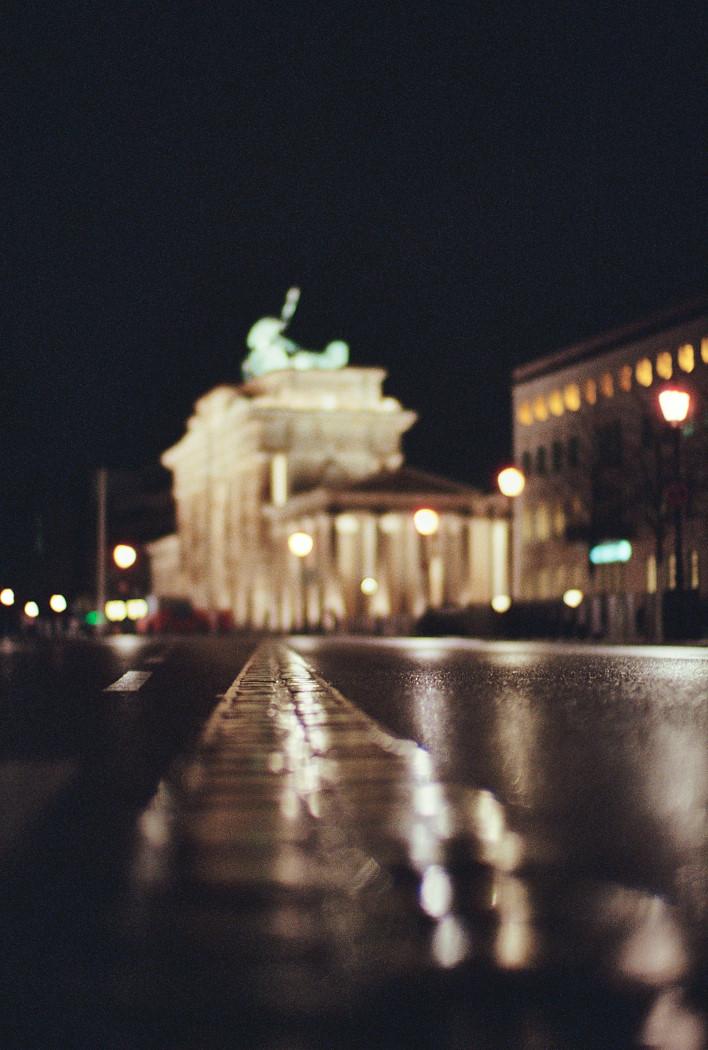 Mauerverlauf am Brandenburger Tor