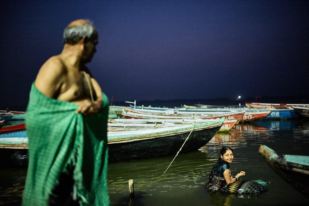 morgendliches Bad im Ganges
