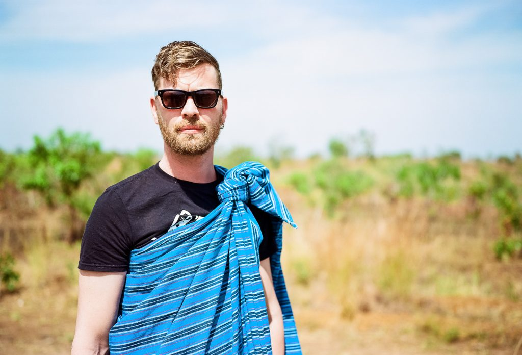 Björn Holzweg - artist from Germany in local cloths