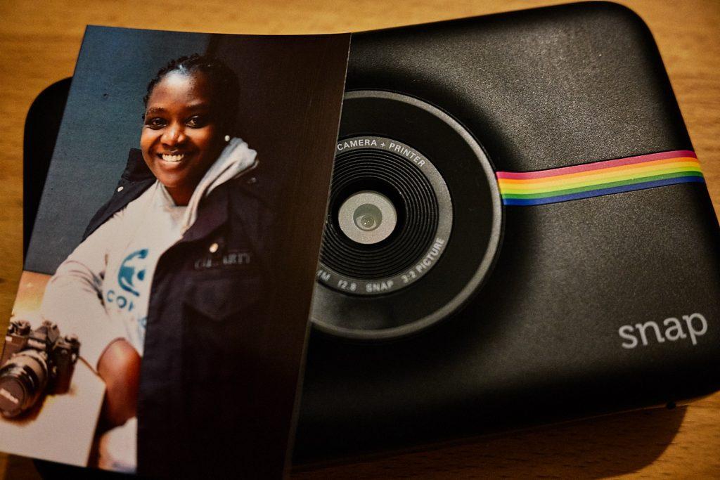 Ein erstes Foto mit der Polaroid Snap Sofortbildkamera