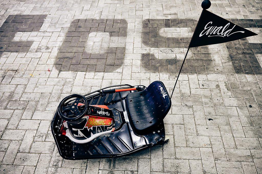 Liebevoll gestaltete eCarts - hier das Ewald Racing Cart