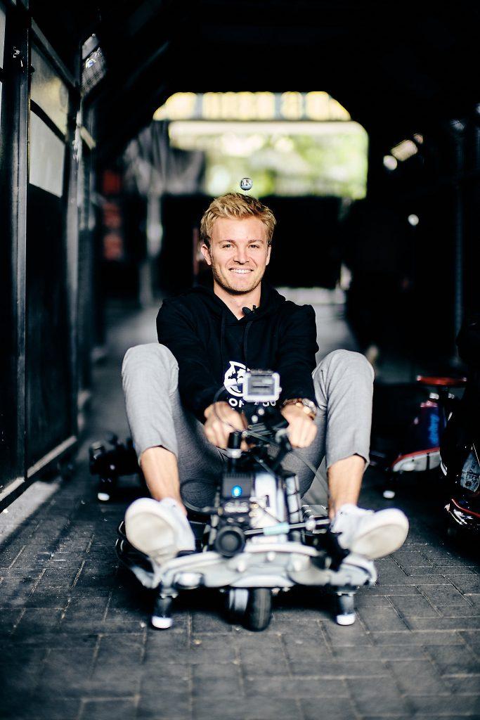 Nico Rosberg vor dem ersten Start