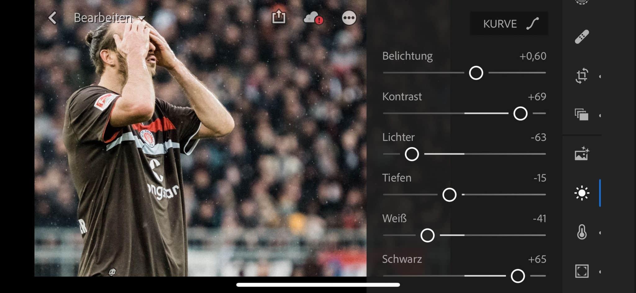 Lightroom CC als iOS App